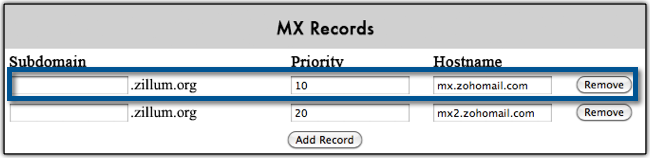 how to add mx record in namecheap